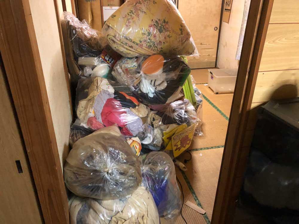 熊本し中央区引越ゴミ回収/不用品回収事例