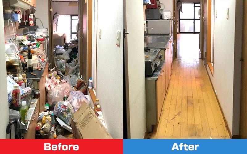 ゴミ屋敷不用品回収片付けビフォーアフター