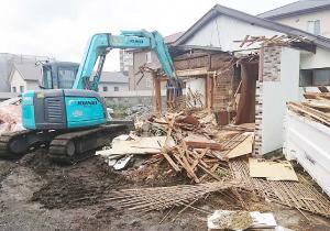 小屋の解体