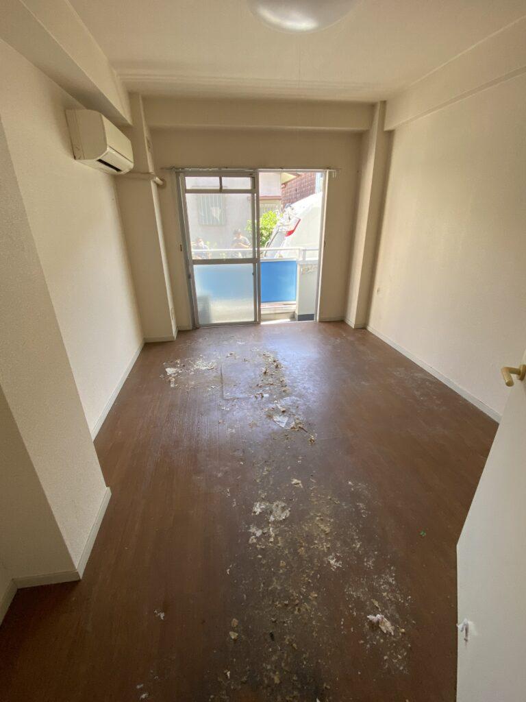 ワンルームアパート、片付け後(居室)の写真